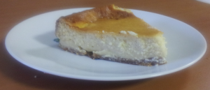 Receta tarta de queso al horno.