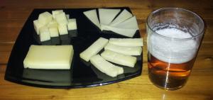 recortada cerveza y tabla