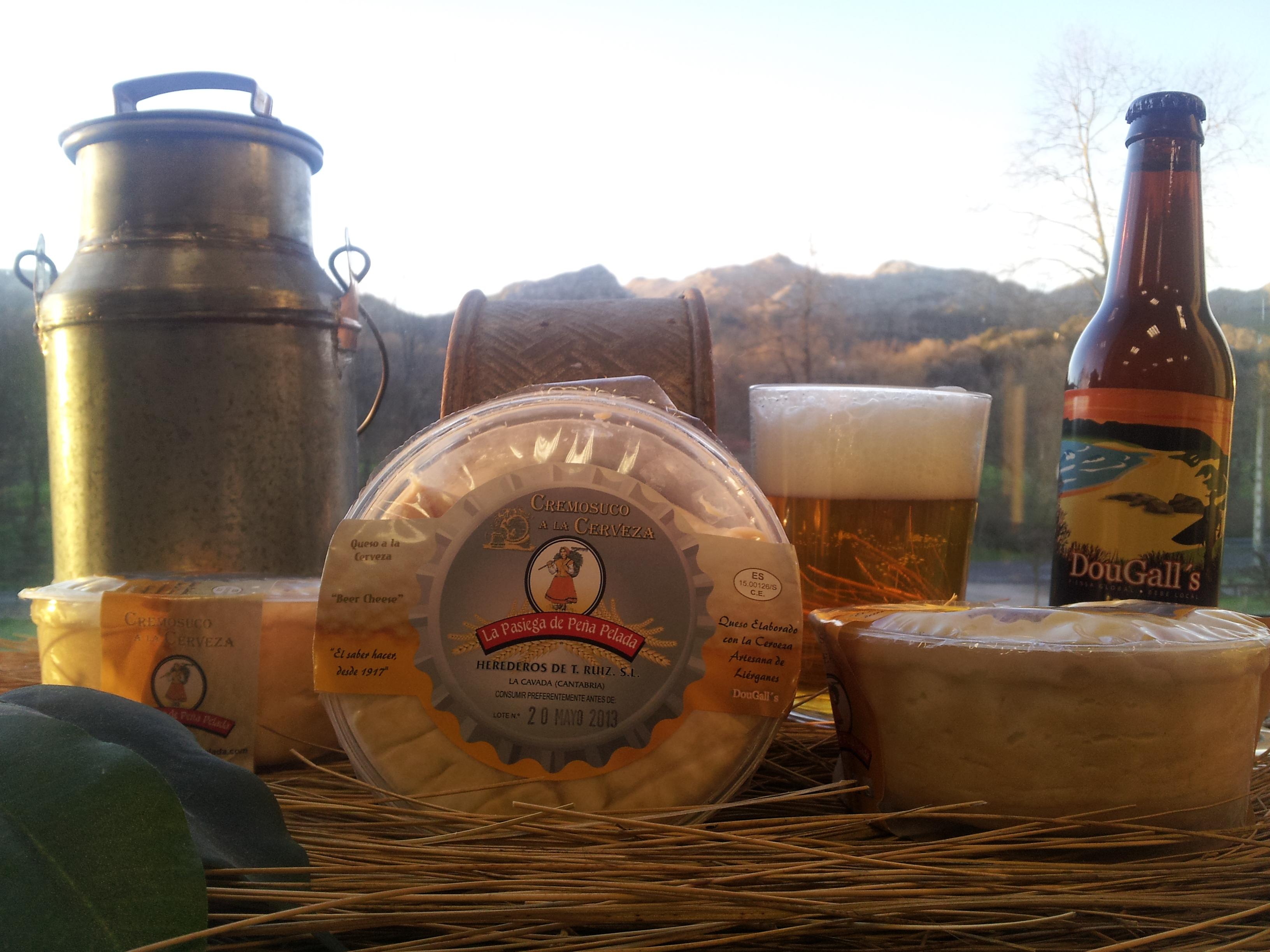 Cremosuco a la cerveza, queso y cerveza de Cantabria.