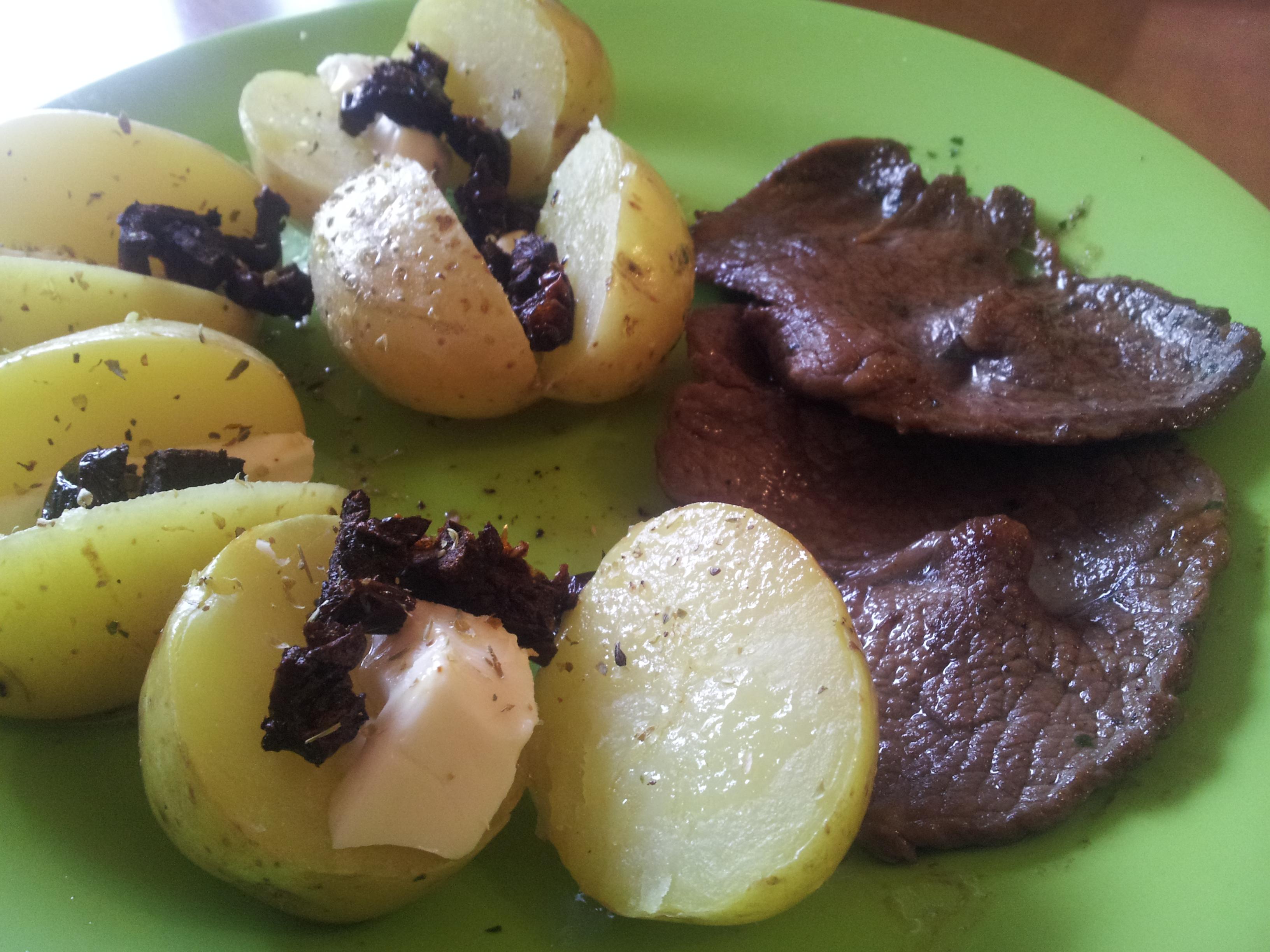 filete y patatas horno